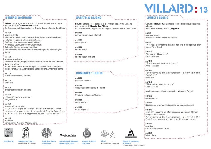 Villard 13 Quartu Alghero 2012
