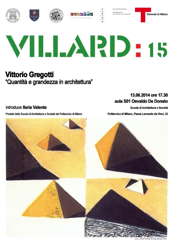Villard 15 Milano Gregotti
