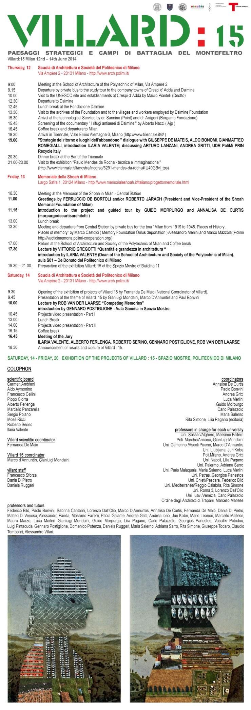 Villard 15 Milano programma