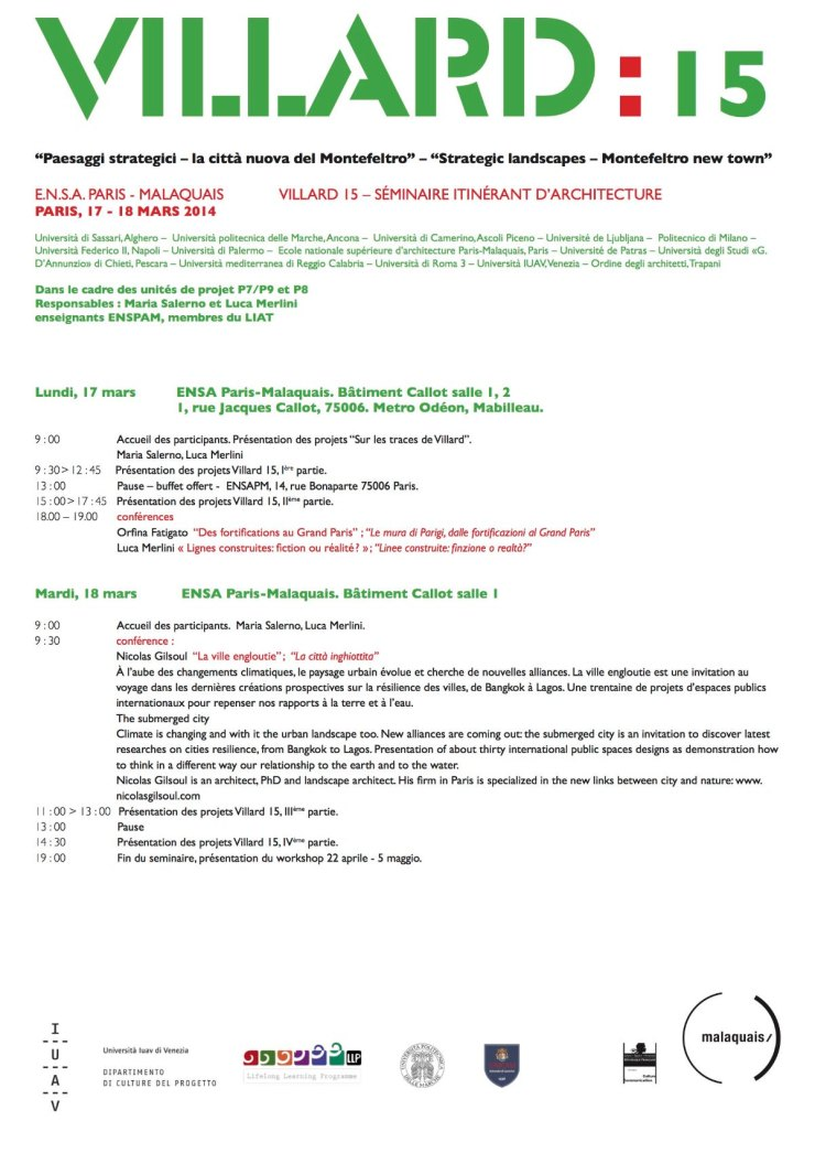 Villard 15 Parigi programma 1
