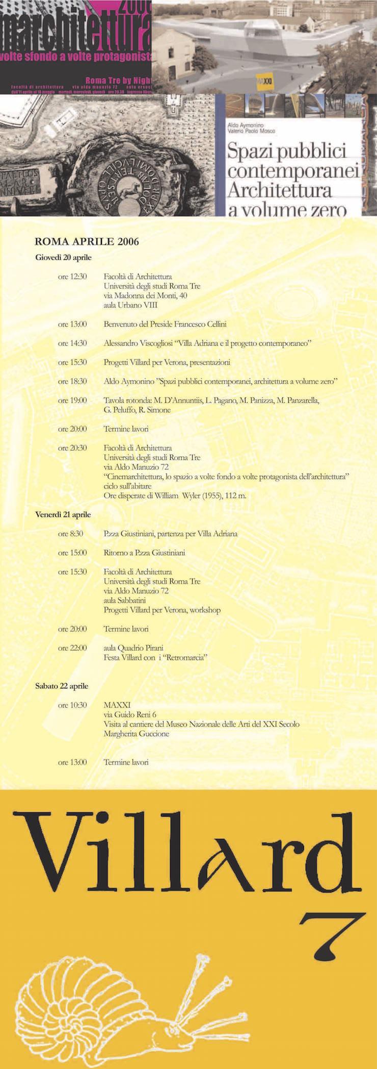 villard-7-roma-programma