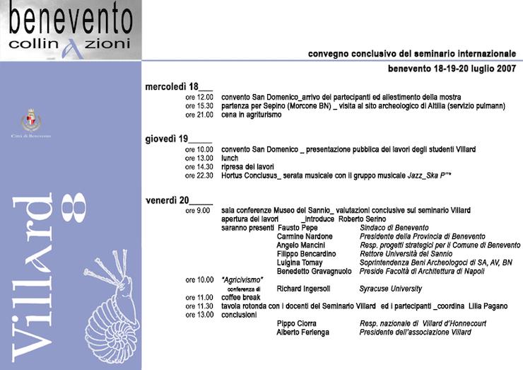 villard-8-benevento-2007-programma